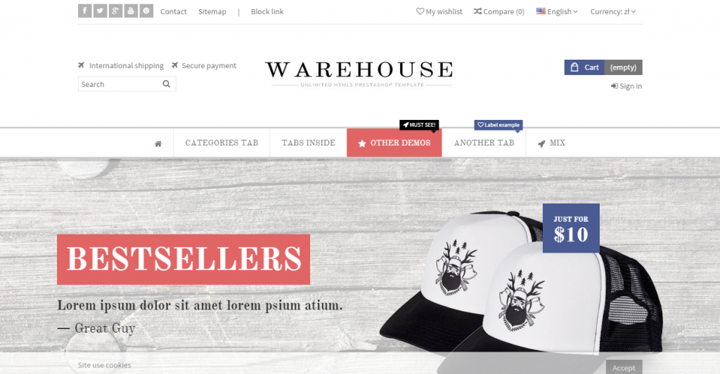 Warehouse Responsive Prestashop 1.6 Theme Blog