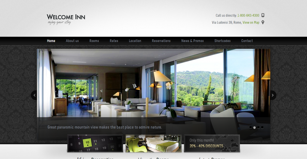Welcome Inn, Spa & Ski Resort HTML Theme