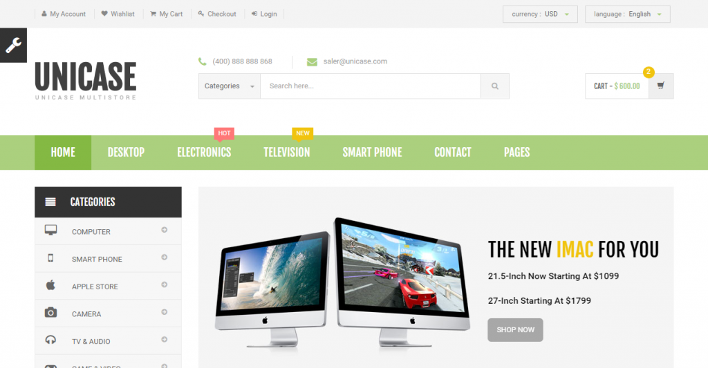 56 Best eCommerce HTML Templates | Weelii