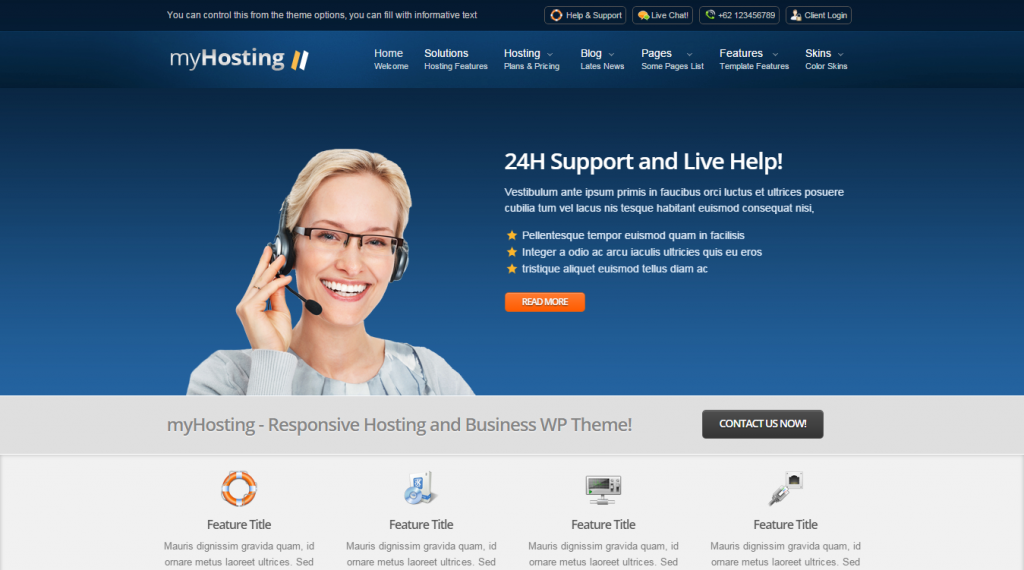 myHosting Responsive Hosting & Business Template