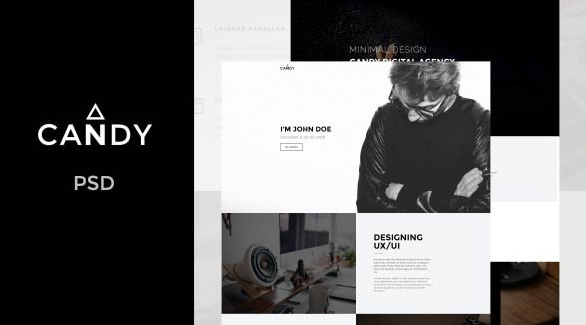 Candy One Page PSD