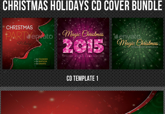 Christmas Holidays Music Party CD Cover Bundle