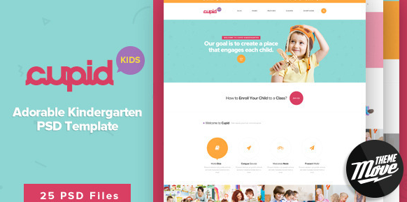 Cupid Adorable Kindergarten PSD Template