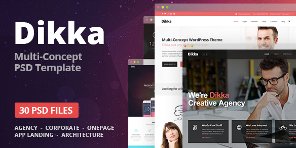 Dikka Elegant Multi-Purpose PSD Template
