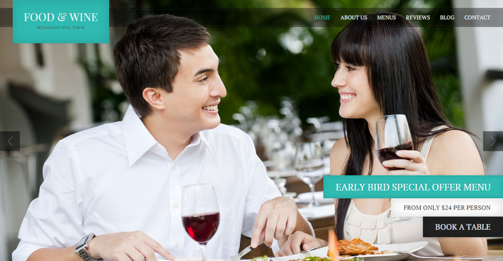 Food & Wine HTML Responsive Theme