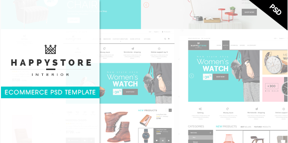HappyStore Ecommerce PSD Template