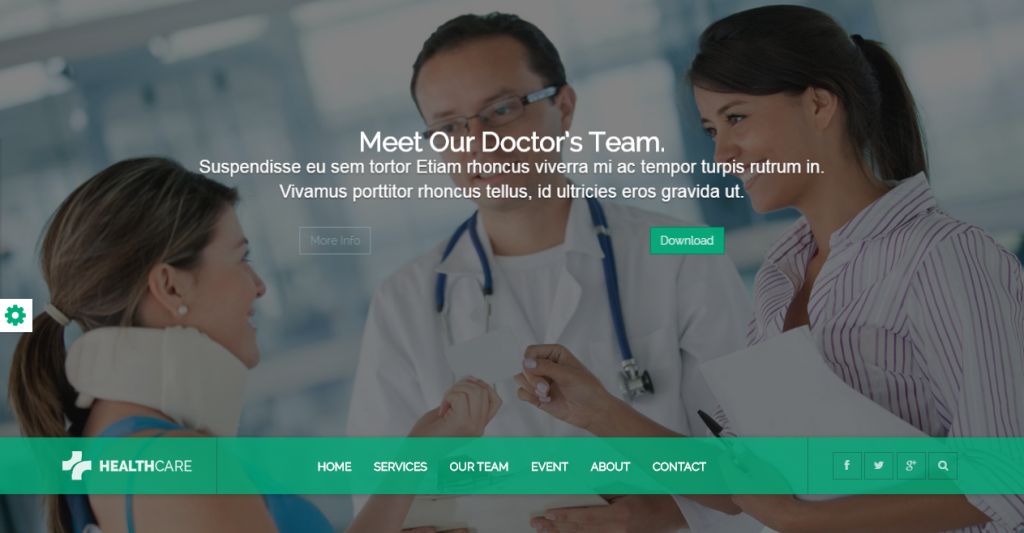 Health Care Responsive Medical Health Template
