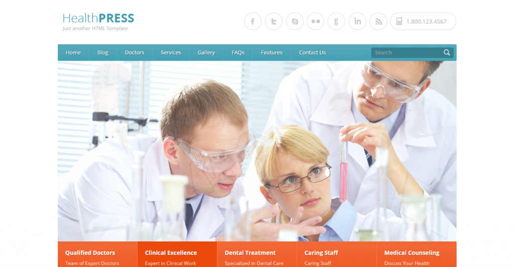 HealthPress Health and Medical HTML Templat