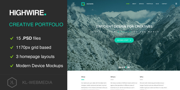 Highwire PSD Template