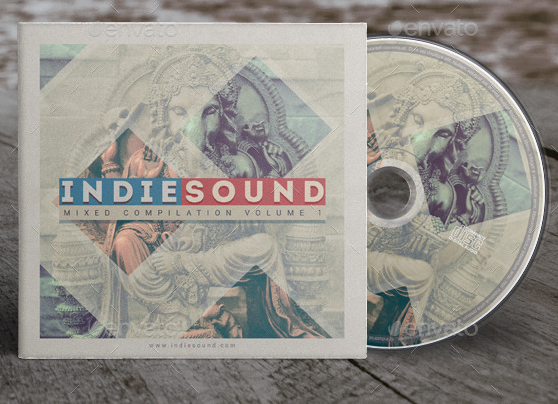 Indie Sound CD Cover Template Artwork