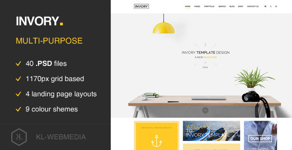 Invory Multi Purpose PSD Template