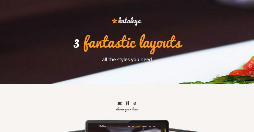 Kataleya Restaurant Pizza Coffee HTML Template