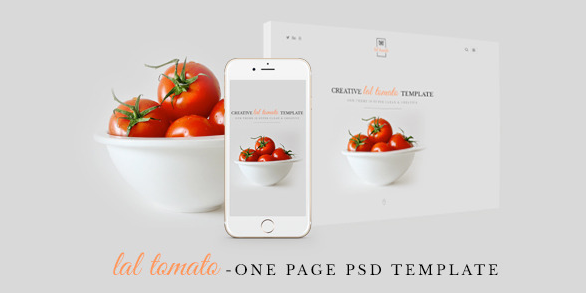 Lal Tomato One Page Multi-purpose PSD Template