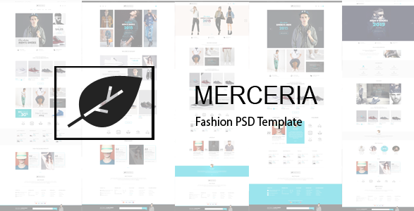 MERCERIA Fashion PSD Template