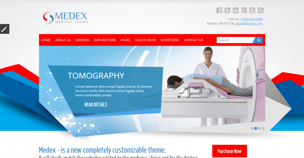 Medex Medical, Doctor and Health care Responsive