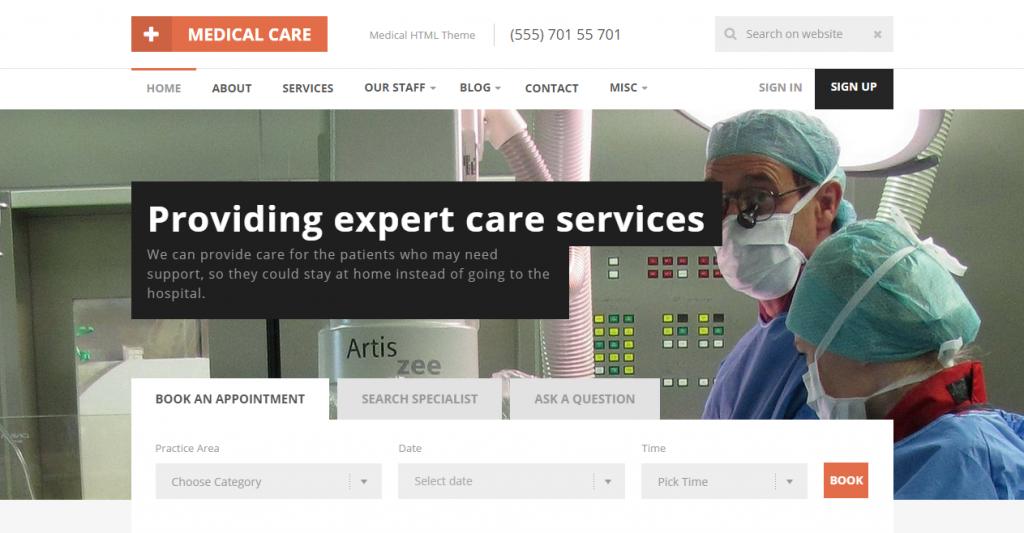 Medical Care Responsive Medical HTML5 Template