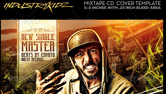 Mixtape Cover Template