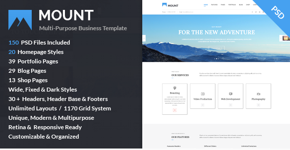 Mount Multi-purpose Business PSD Template