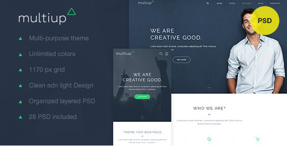 MultiUp Multi-purpose business theme
