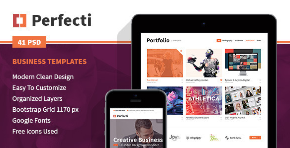 Perfecti Business PSD Templates