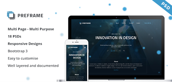 Preframe Agency & Multipurpose PSD
