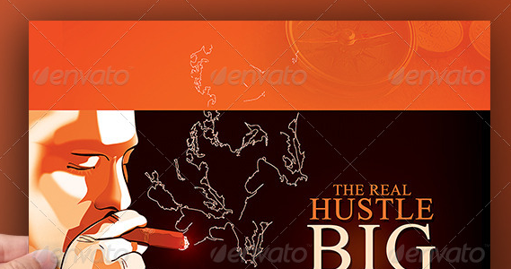 Real Hustle Mixtape Album Cover Template PSD
