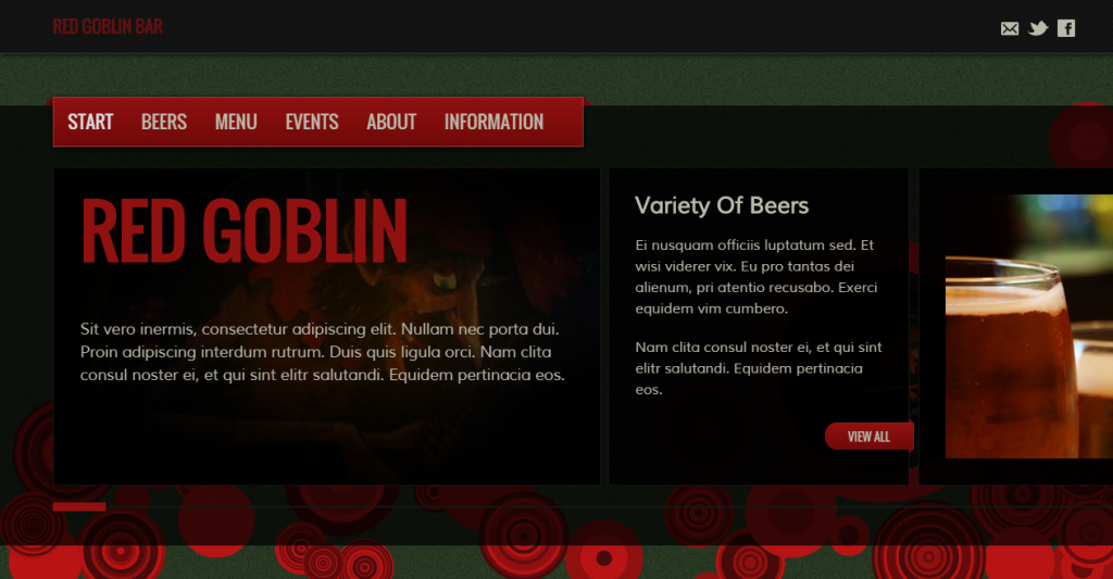 Red Goblin HTML5 Template For Bars And Pubs