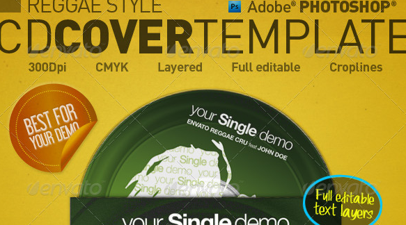 Reggae Style CD Cover Template