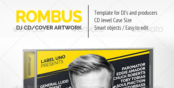 Rombus DJ Mix CD Cover Artwork PSD