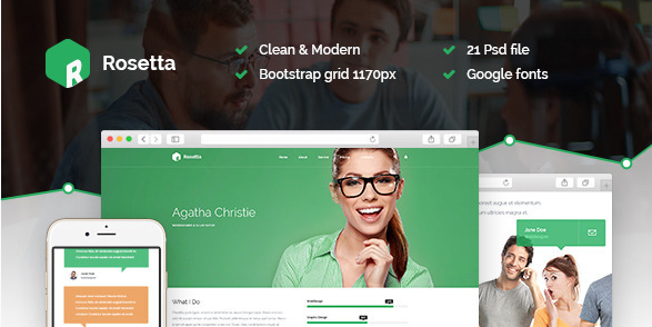 Rosetta Multipurpose PSD Template