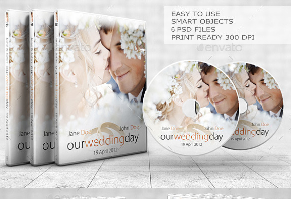 Sleek Wedding DVD & BR Cover Set