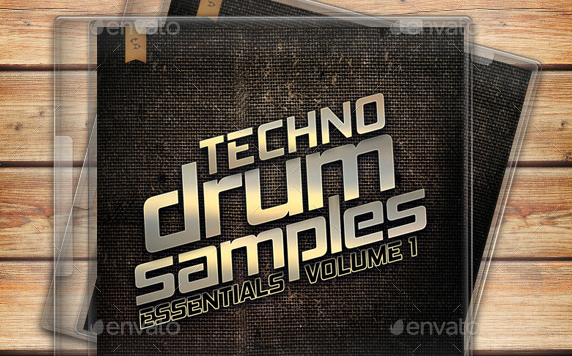 Techno Drum Samples CD Cover Template