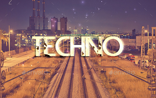 Techno Mixed Compilation CD Cover Template
