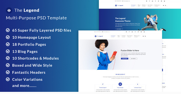 The Legend Multi-Purpose PSD Template