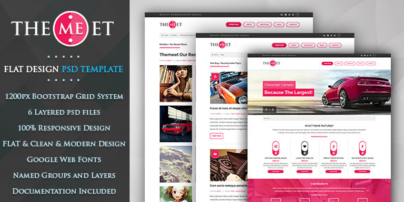 Themeet Modern One Page Template