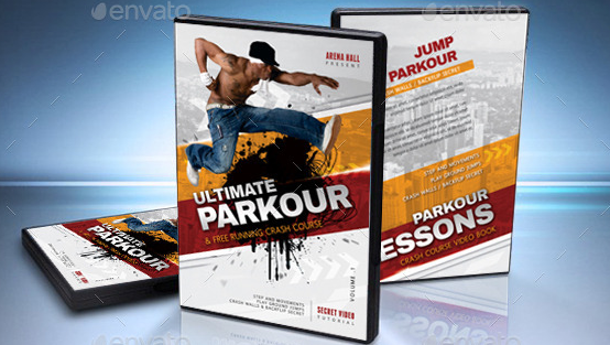 Ultimate Parkour DVD Cover Template