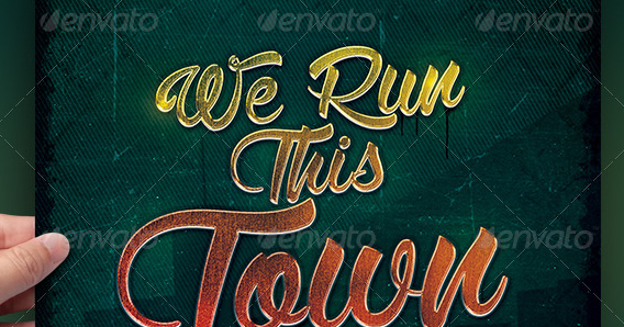 We Run This Town Album Cover Template PSD