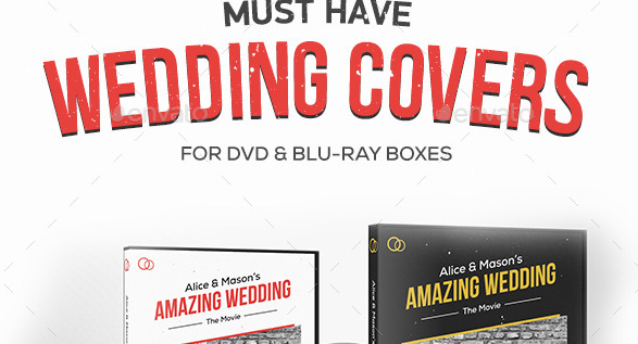 Wedding DVD Blu-ray Covers with Disc Labels