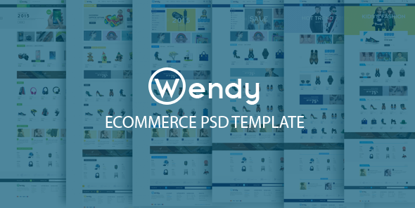 Wendy Ecommerce PSD Template