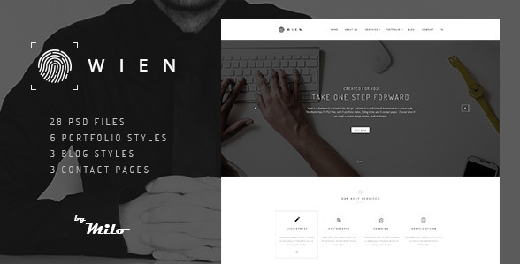 Wien Modern Business Multi-purpose PSD Template