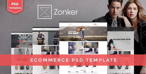 Zonker Ecommerce PSD Template