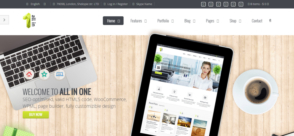 All In One Multipurpose joomla template