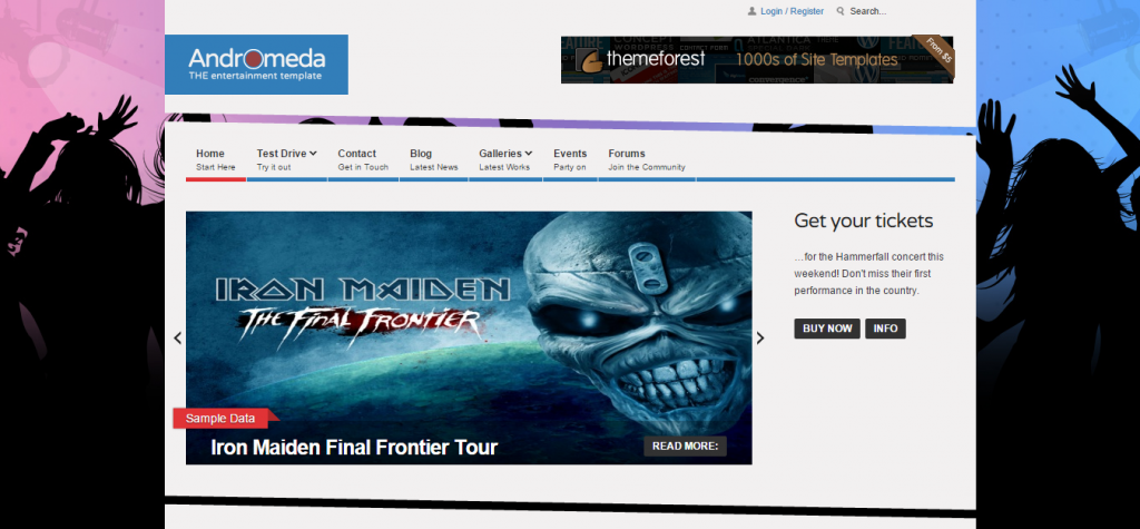 Andromeda Entertainment Joomla Template