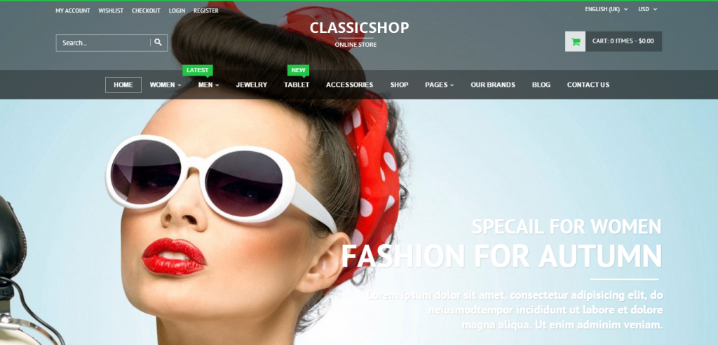 Classic Shop Joomla Virtuemart 3 Template