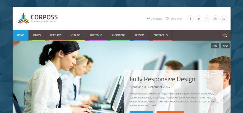 Corposs Responsive Business Joomla Template