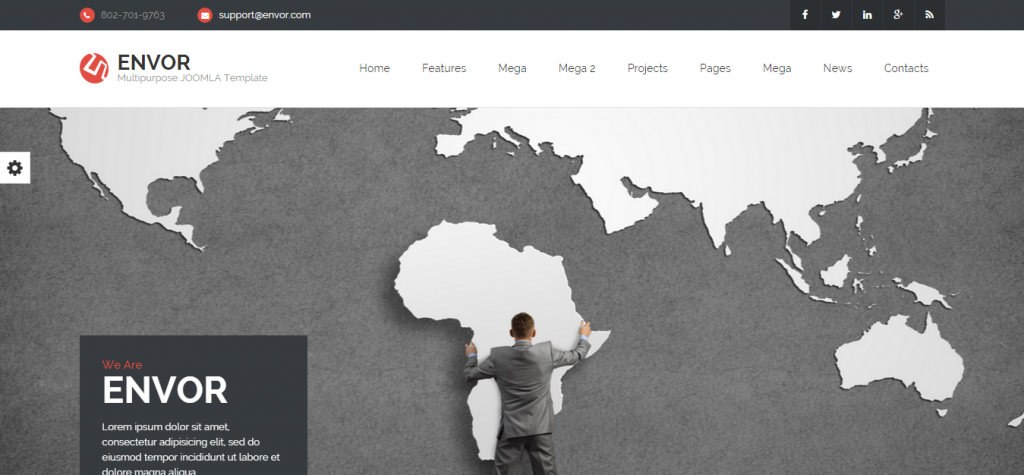 Envor Fully Multipurpose Joomla Template