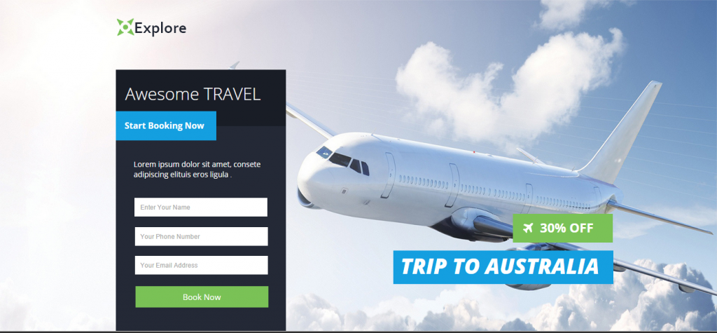 Explore Travel Pagewiz Template