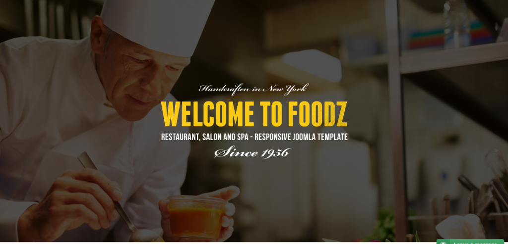 Foodz estaurant, Spa & Salon Joomla Template