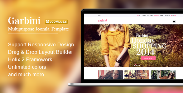 Garbini Multipurpose Joomla Template