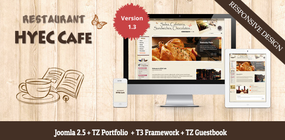 HYEC Cafe Restaurant Joomla Template